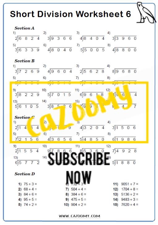 Arithmetic Worksheet 6