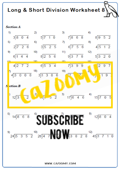 Arithmetic Worksheet 8