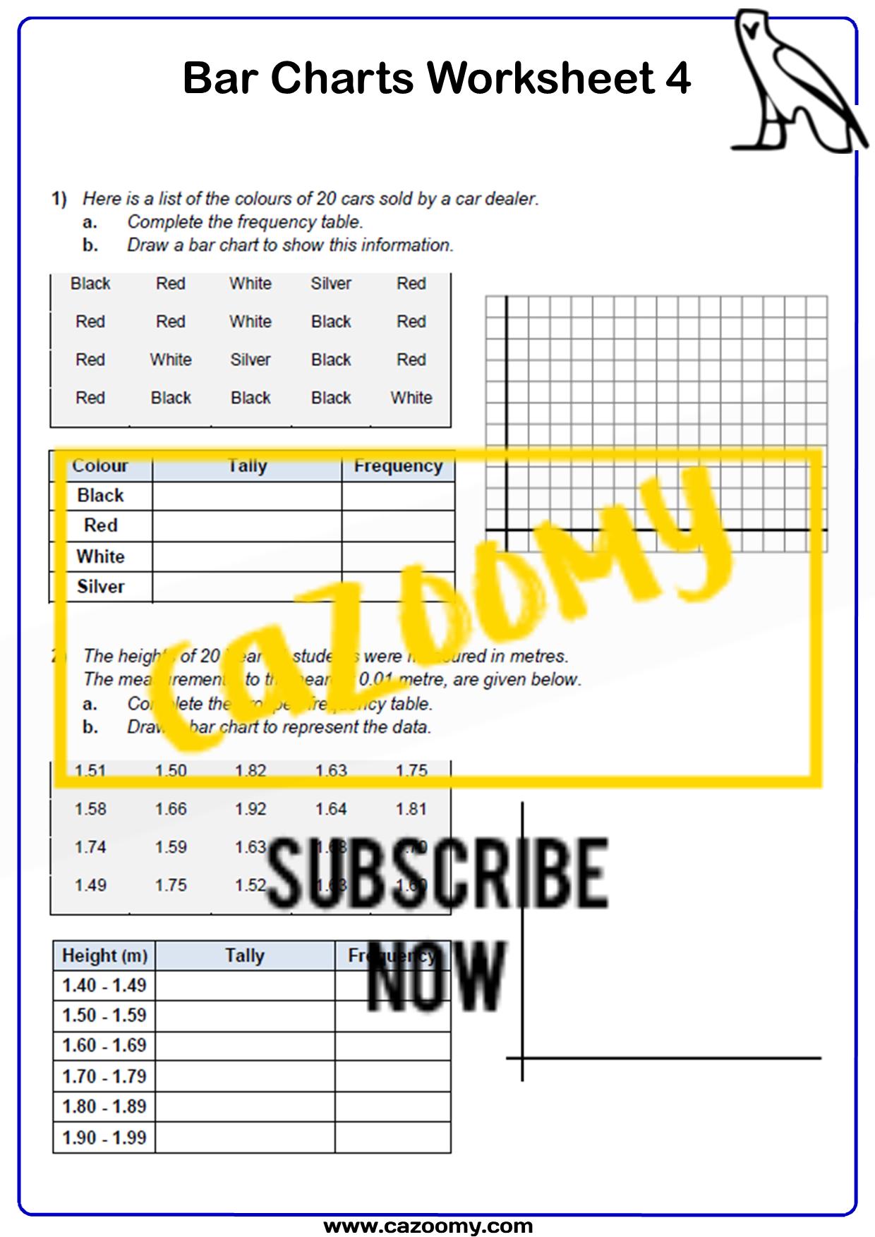 Bar Charts Worksheet 4