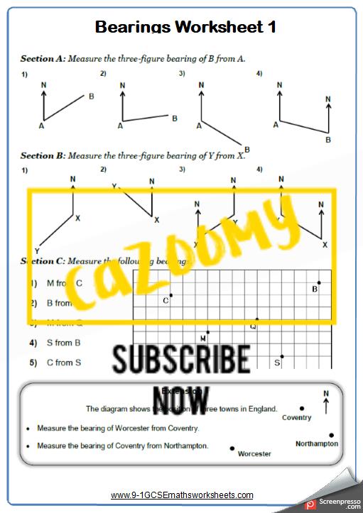 Bearings Worksheet 1