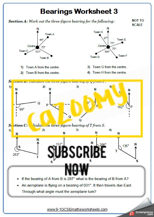 Bearings Worksheet 3