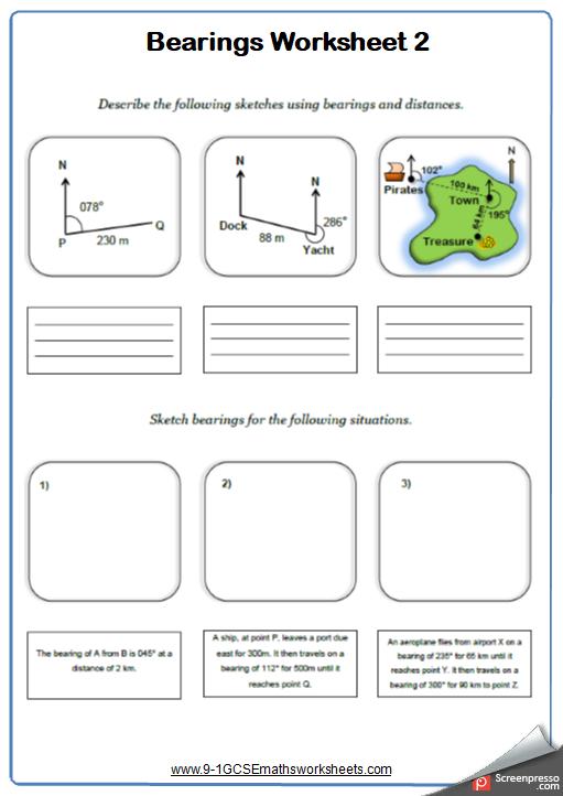 Measuring Bearings Worksheet 2