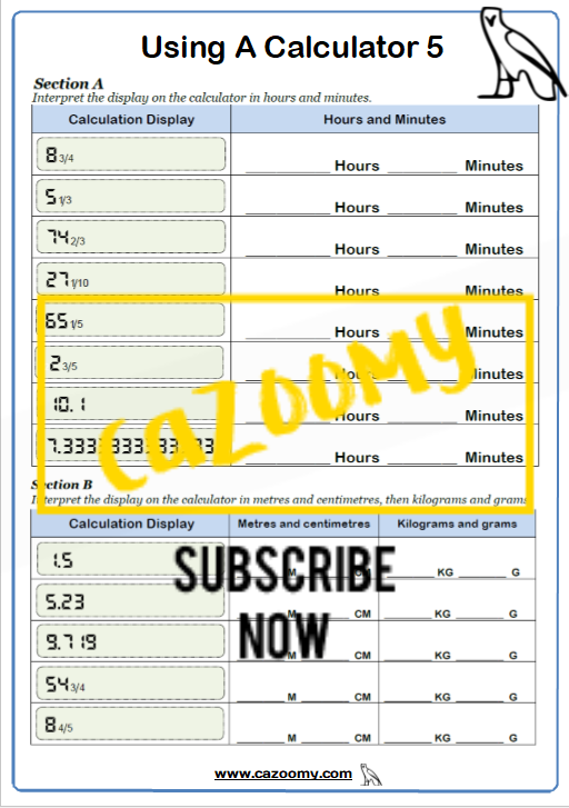 Using A Calculator Worksheet 5
