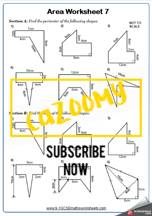 Compound Shapes Worksheet 2