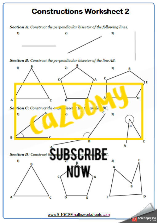 Constructions Worksheet 2