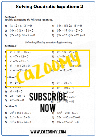 Equations Worksheet 15