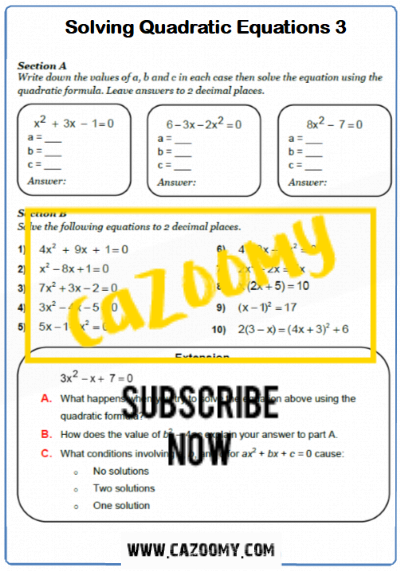 Equations Worksheet 16