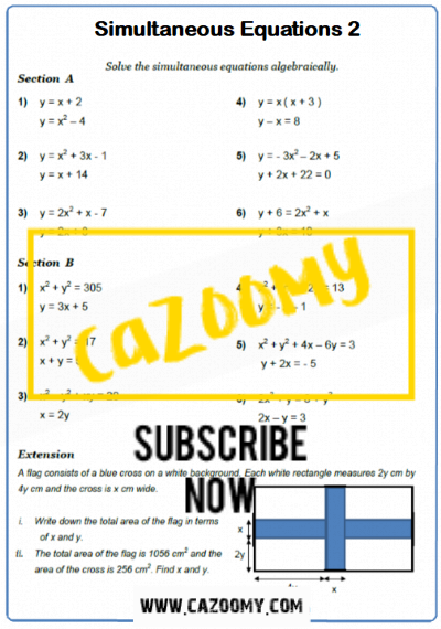Equations Worksheet 19
