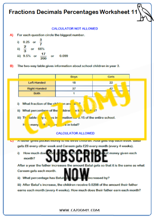 Equivalence Worksheet 11