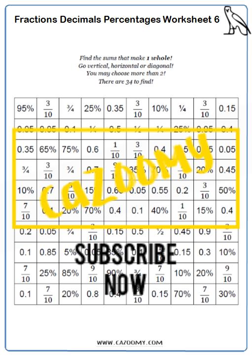 Equivalence Worksheet 6