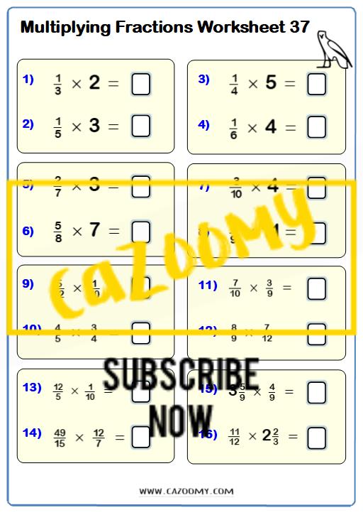 Multiplying Dividing Fractions Worksheet 2