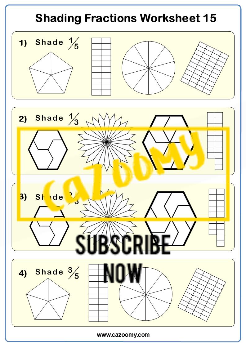 Shading Fractions Worksheet 9