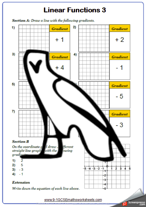 Graphs Worksheet 3