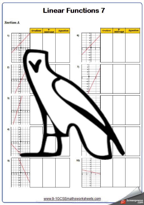 Graphs Worksheet 7