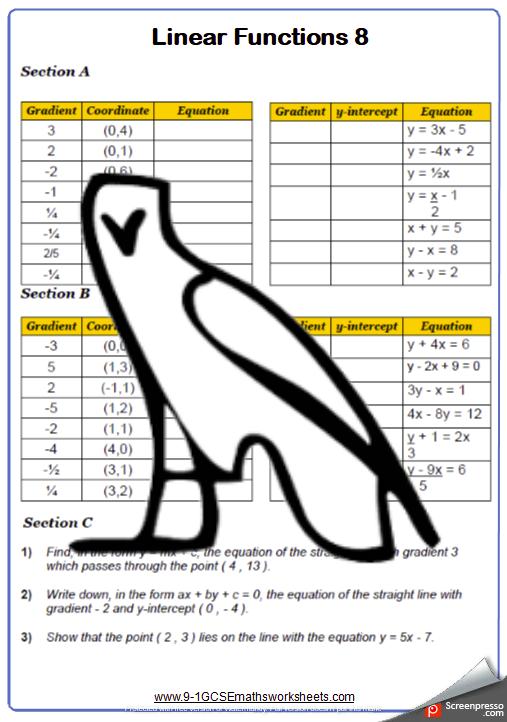 Graphs Worksheet 8