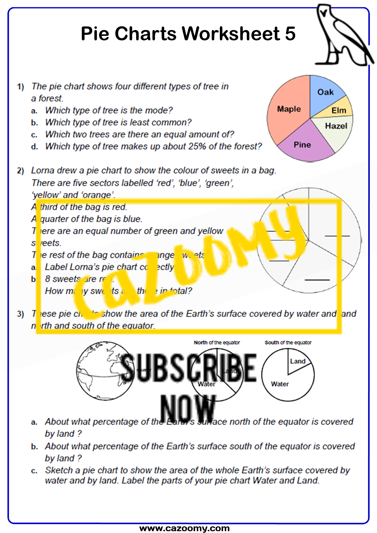 Pie Charts Worksheet 5