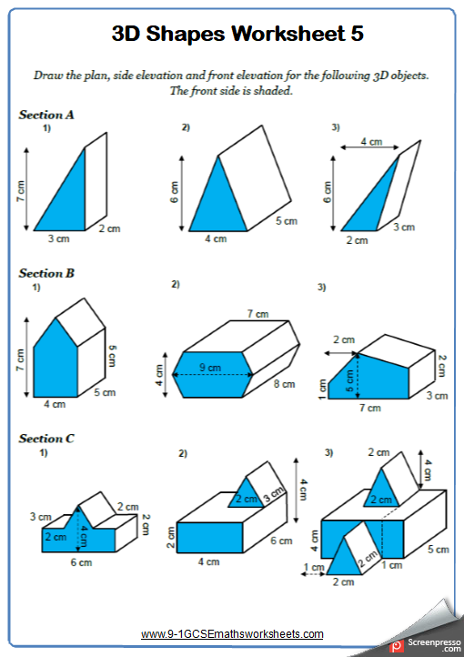 Plans and Elevations Worksheet 2