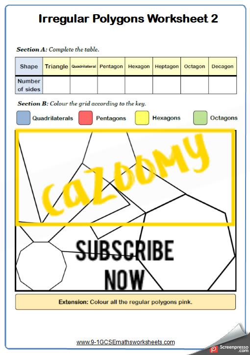 Polygons Worksheet 2