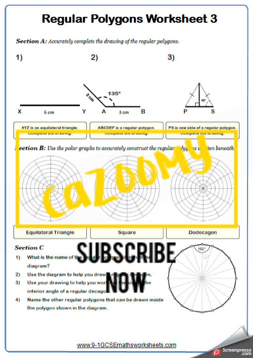 Polygons Worksheet 3