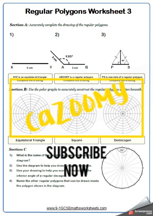 Polygons Worksheet 3