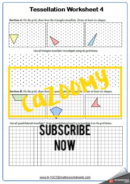 Polygons Worksheet 4