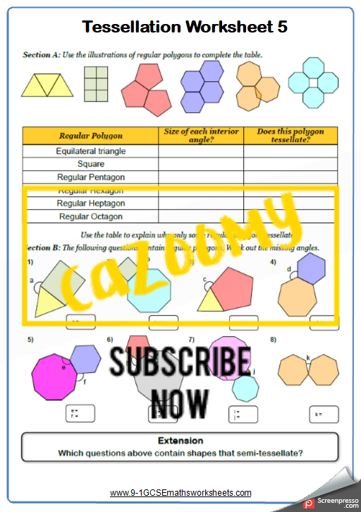 Polygons Worksheet 5