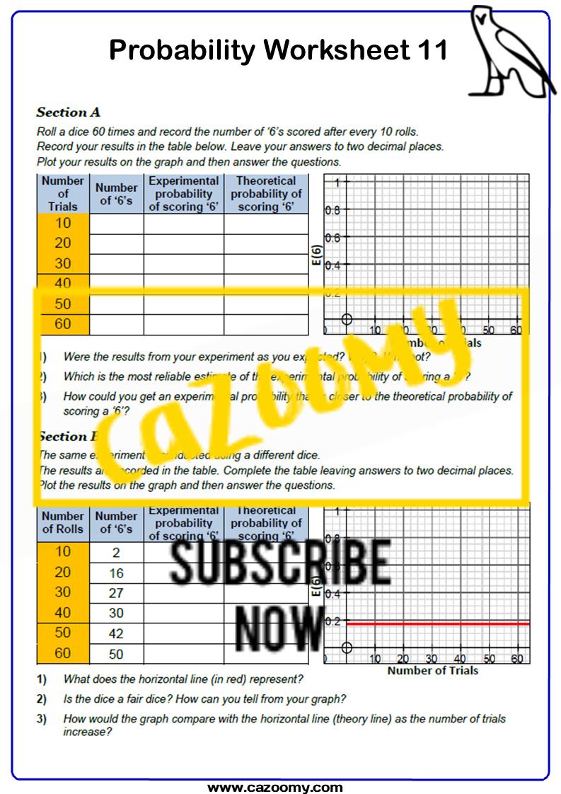 Probability Worksheet 11