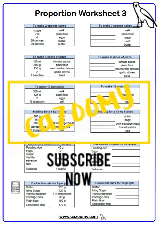 Ratio Proportion Worksheet 10