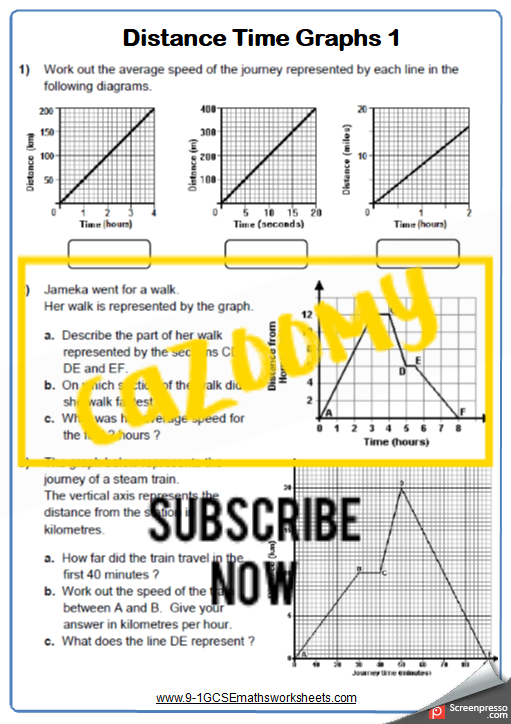 Real Life Graphs Worksheet 1