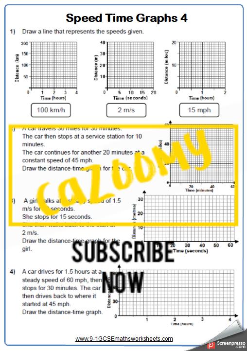 Real Life Graphs Worksheet 4