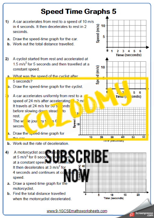 Real Life Graphs Worksheet 5