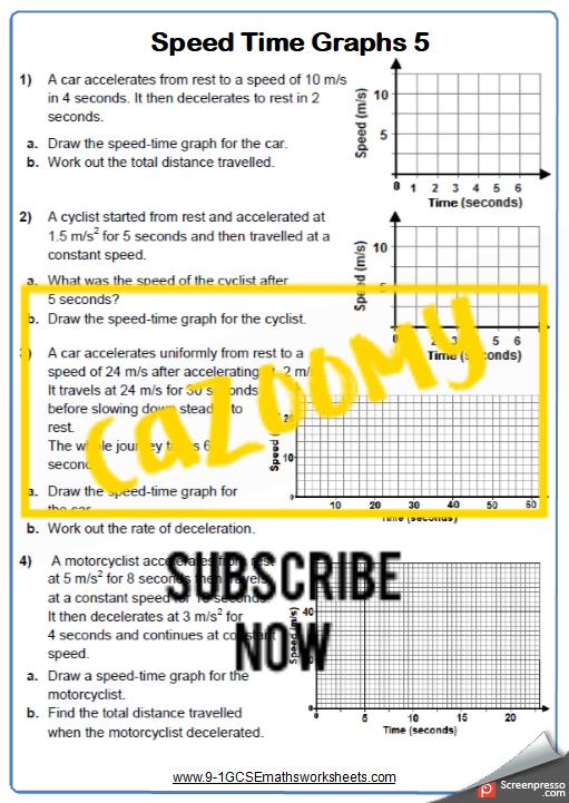 Real Life Graphs Worksheet 5