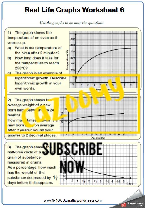 Real Life Graphs Worksheet 6