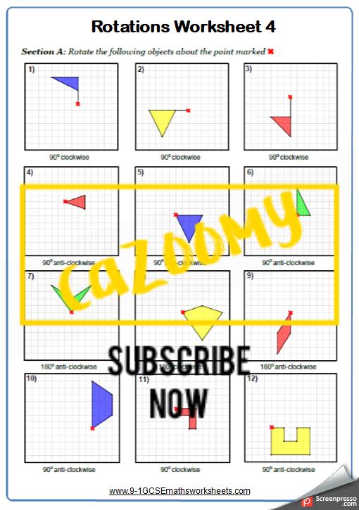 Rotation Worksheet 1