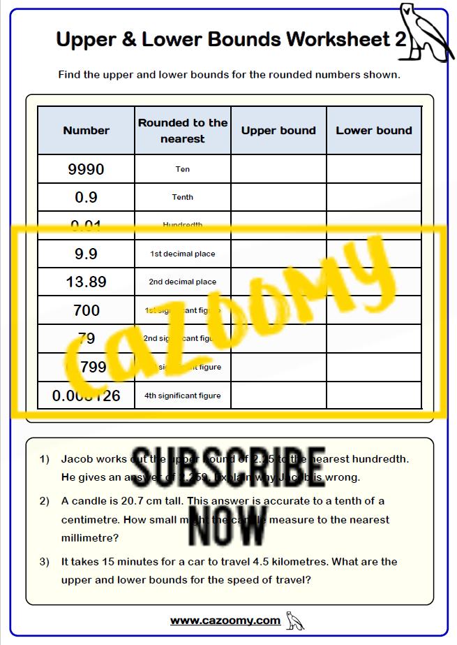 Rounding Worksheet 19