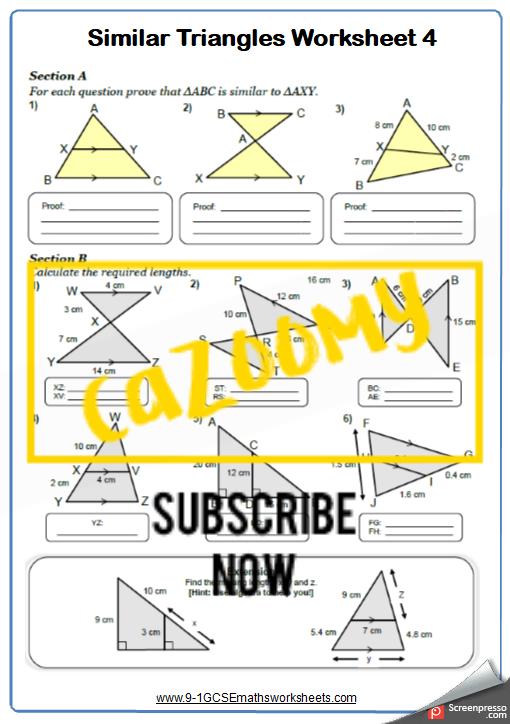 Similar Shapes Worksheet 4