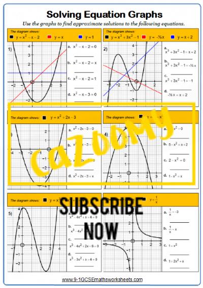 Simultaneous Equations Worksheet 4