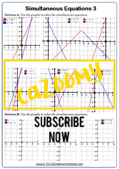 Straight Line Graphs Worksheet 12