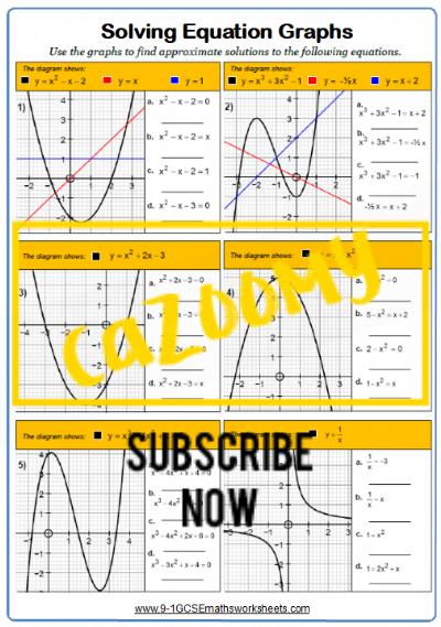Straight Line Graphs Worksheet 13