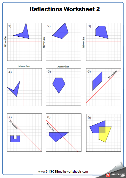 Line of Symmetry Worksheets | Practice Questions and ...