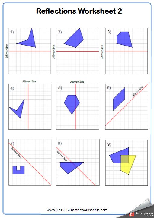 Line of Symmetry Worksheet 2
