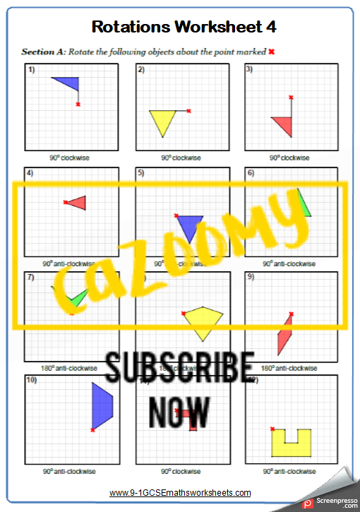 Transformations Worksheet 4