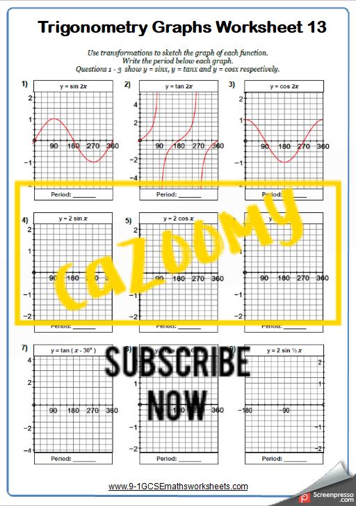Trigonometry Worksheet 13