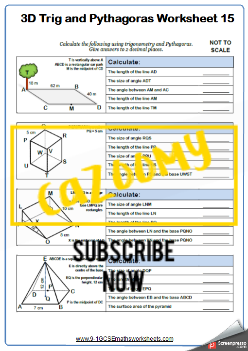 Trigonometry Worksheet 15
