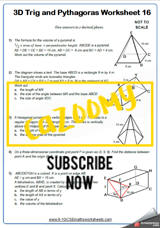 Trigonometry Worksheet 16