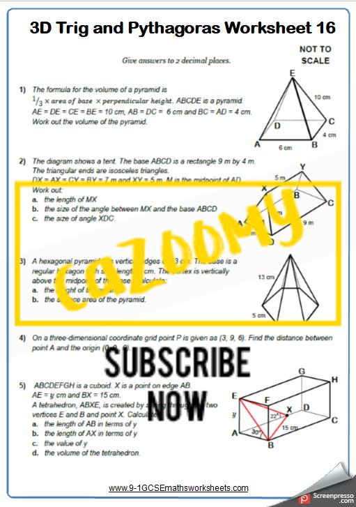 Trigonometry Worksheet 16