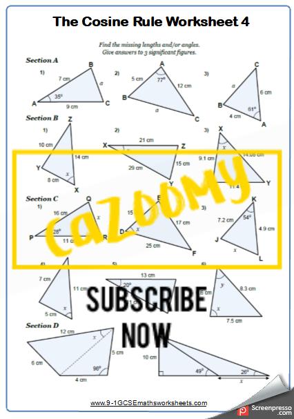Trigonometry Worksheet 4
