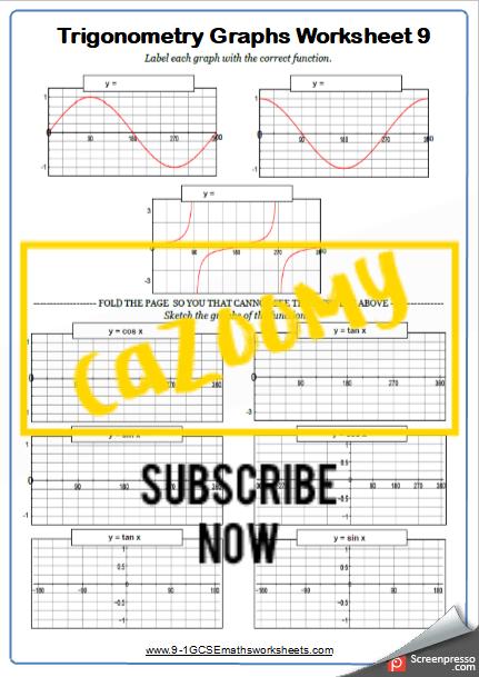 Trigonometry Worksheet 9