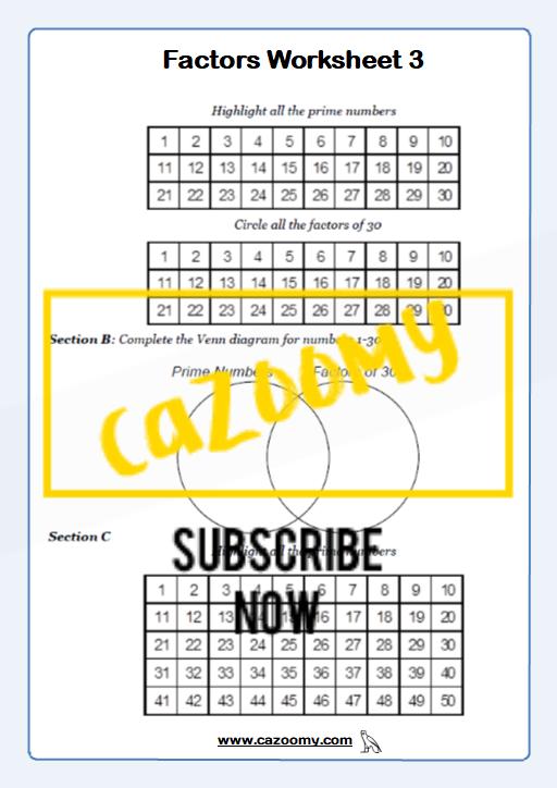 Types of Number Worksheet 3