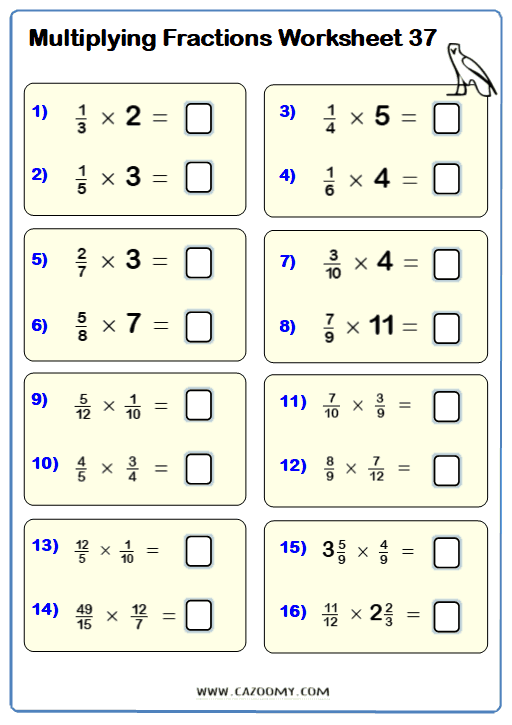 Multiplying And Dividing Fractions Cazoomy